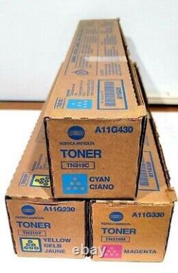 Nouvel Ensemble De Toner De Couleur Konica Minolta Tn-319 Cmy A230-330-430 (3 Couleurs)