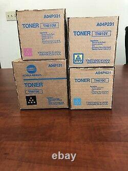 Nouvelle Série Authentique Konica Tn610 De Toners Cmyk, Scellé En Usine, C5500/c6500