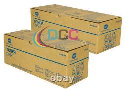 Oem Konica Minolta Lot Of 2 Tn014 Toner Authentique A3vv130 Pour Bizhub Pro 1250 1052