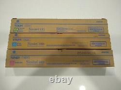Série De Toner Couleur Véritable Konica Minolta Tn-321 Cmy