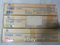 Set Of 3 Konica Tn314m Tn314c Tn314y Cartouche De Toner Oem Véritable