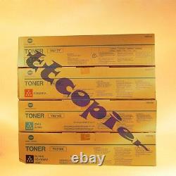 Tn210c Tn210y Tn210m Tn210k Authentique Konica Minolta C250 C252 Toner Lot De 4