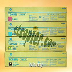 Tn213 Cmyk Mis Lot De 4 Set Konica Minolta Véritable C203 C253 Cmyk Toner