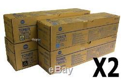 Tn610 Cmyk Set, Lot De 8 Véritable Encre Konica Minolta Pro C5500 C6500