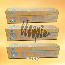 Tn610y A04p231 Lot 3 Véritable Konica Minolta Bizhub Pro C6500 C5500 Toner Jaune