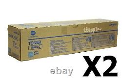 Tn612c, A0vw435 Lot De 2 Véritable Konica Minolta C5501 C6501 Toner Cyan
