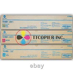 Tn619 Cmy Lot De 3 Véritable Konica Minolta Bizhub Press C1060 / C1070 Tonifiants A3vx