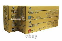 Tn711 Cmyk Set Genuine Konica Minolta Pour Bizhub C754 C654 / A3vu-set/ Lot Of 4