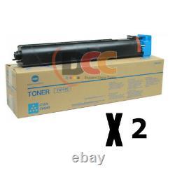 Tn711c Toner Véritable Konica Minolta Cyan Pour C654 C754 A3vu430 Lot De 2