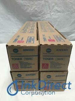 Véritable Konica Minolta A3vx331 Tn-620m Tn620m Toner Cartouche Magenta Lot De 4