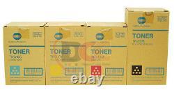 Véritable Konica Minolta Bizhub C450 Toner Cartouche Cyan Yellow Magenta Noir