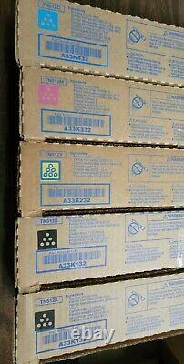 Véritable Konica Minolta Tn512 A33k132-a33k432 Toner Set Bizhub C454 C554