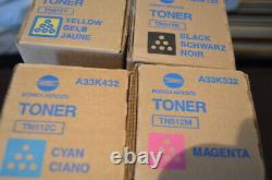 Véritable Konica Minolta Tn512 Toner Cartouches Full Set Nouvelles Boîtes Scellées