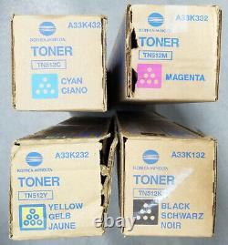 Véritable Konica Minolta Tn512c Tn512m Tn512y Tn512k Ensemble Cmjn