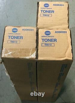 Véritable Konica Minolta Tn513 Toner A33k031 Lot De 3