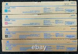 Véritable Konica Minolta Tn619 Cmyk 4 Toner Cartridge Set
