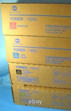 Véritable Konica Minolta Tn619c Tn619y Tn619m Tn619k Cymk Toners C1060 C1070