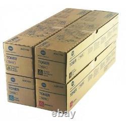 Véritable Konica Minolta Tn622 Toner Set Cymk Bizhub Press C1085, C1100 Scellé