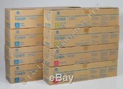 Véritable Konica Minolta Toner Lot 4 Tn213c Cyan + 2 Tn213m Magenta + 2 Tn213y Jaune