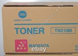 Véritable Konica Minolta Toner Lot 4 Tn213c Cyan+2 Tn213m Magenta+2 Tn213y Jaune