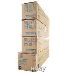 Véritable Konica Minolta Toner Set Pour Bizhub Tn213k Tn213y Tn213m Tn213c