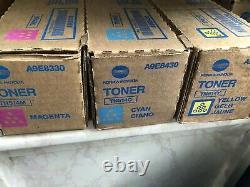 Véritable Konica-minolta Tn514 Toner Cyan/magenta/yellow 1 De Chaque