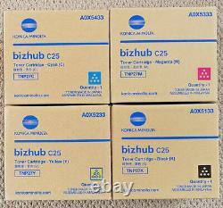 Véritable Tnp27 Cmyk Set 4 Konica Minolta Bizhub C25 Toner Tnp27k Tnp27y Tnp27c