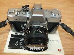 Véritable Vintage Minolta Srt 101 Film Camera Avec MC Rokkor-pf 117 Lens Lire
